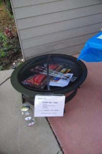 Grill donated by Lowe's No. Ogden