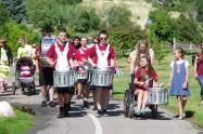 Northridge's drummers lead the walkers