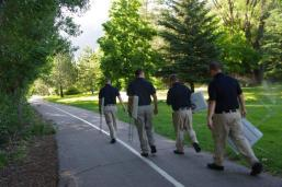 WSU Law Enforcement Academy Cadets place sponsor signs