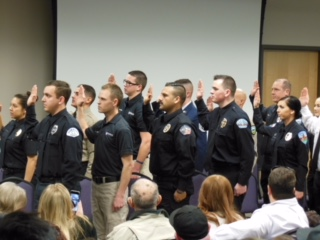 The WSU Law Enforcement Academy class of January 2018