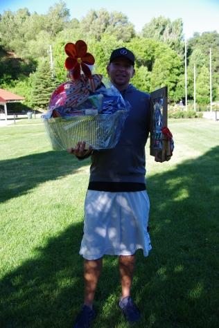 Brody hauling raffle items